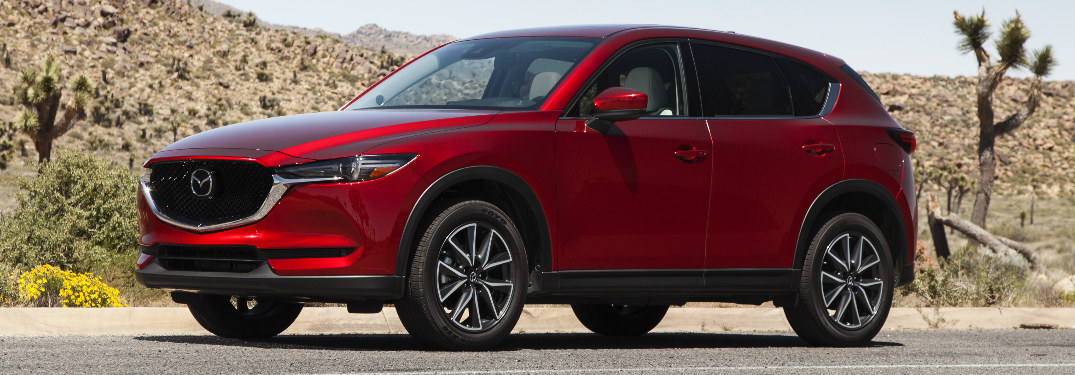 red 2017 Mazda CX-5 exterior front driver side
