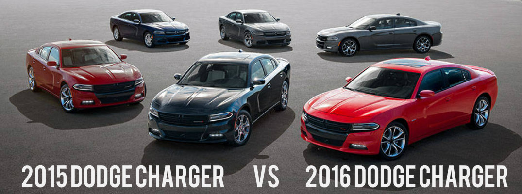 What's the difference between the 2015 Dodge Charger and 2016 Dodge Charger?