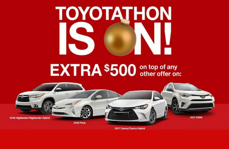 What vehicles are included in the Toyotathon in Palo Alto?