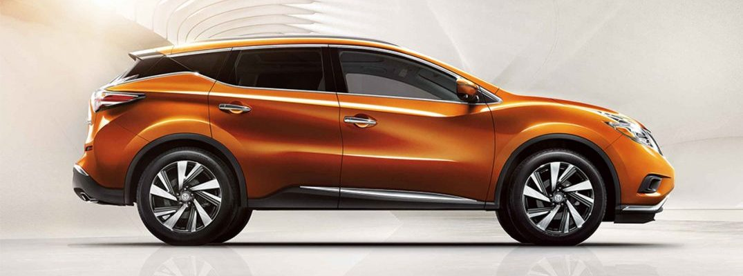 2017 nissan murano orange side view