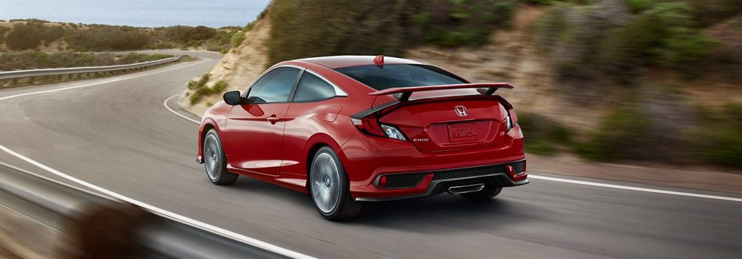 2017 civic si coupe rear environment