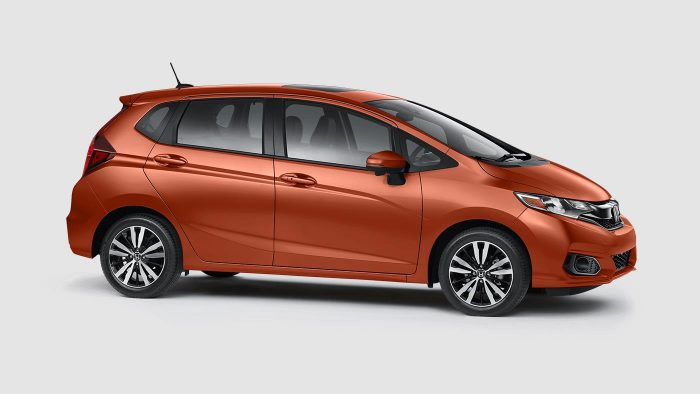 Photo gallery new 2018 honda fit color options for Orange honda fit