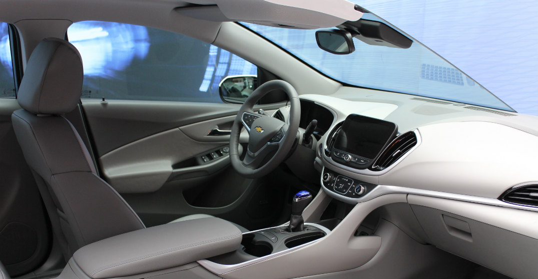 interior of the 2016 Volt
