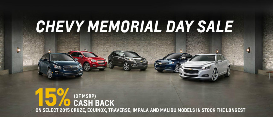 2015 Chevy Memorial Day Sale in Naperville, IL