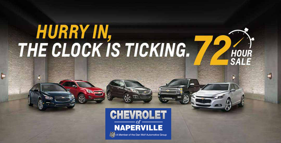 Chevy 72-hour sale in Naperville, IL