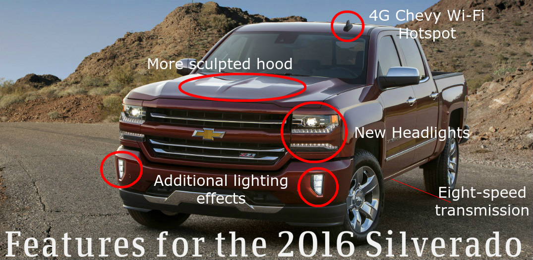 features for the 2016 Silverado