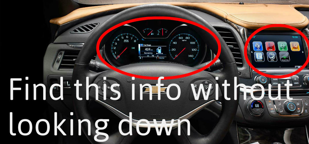 how chevy heads up displays work