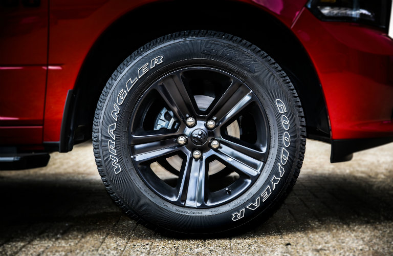2017 Ram 1500 Night model rims