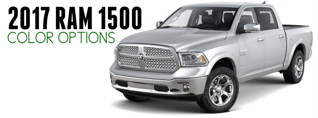 2017 Ram 1500 Exterior paint Color Options