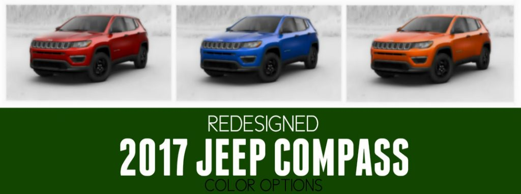 Redesigned 2017 Jeep Compass Color Options