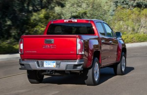 rear end GMC Canyon Red Taillights