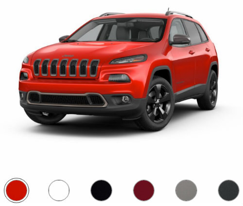 2017 jeep cherokee color options