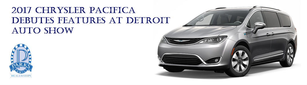 2017 Chrysler Pacifica Debuts Features At Detroit Auto Show