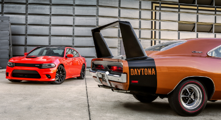 old and new charger daytona models