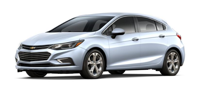 2017 Chevy Cruze Hatchback in arctic blue