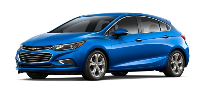2017 Chevy Cruze Hatchback in kinetic blue