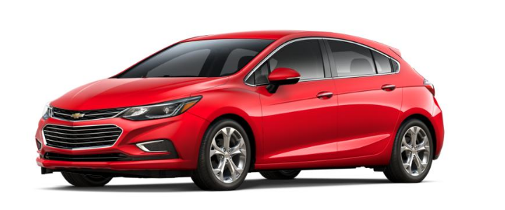 2017 Chevy Cruze Hatchback in red hot