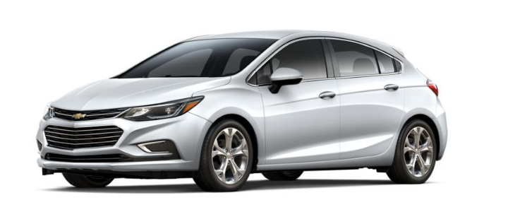 2017 Chevy Cruze Hatchback in silver ice