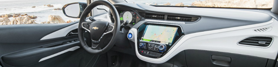 2017 chevy bolt ev with touchscreen infotainment display