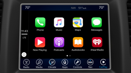 Apple CarPlay and Android Auto On 4th Generation Uconnect