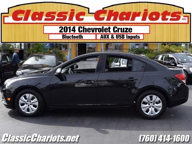 sold used 2014 chevrolet cruze ls auto with one previous owner bluetooth and low miles for