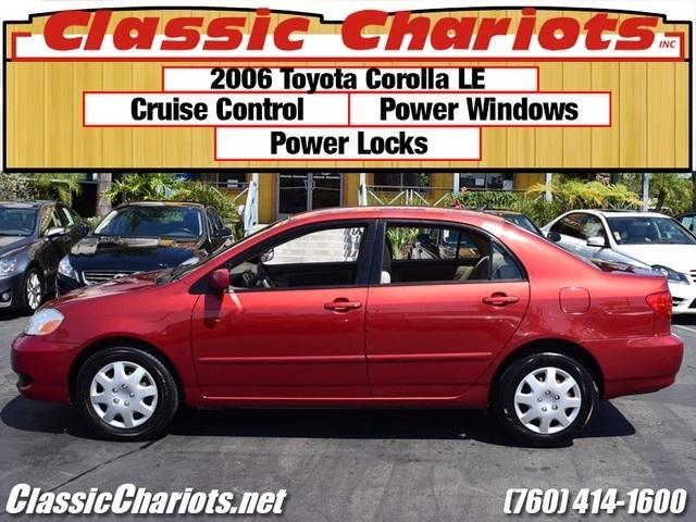 used car near me 2006 toyota corolla le for sale in escondido stock 11950a classic chariots. Black Bedroom Furniture Sets. Home Design Ideas