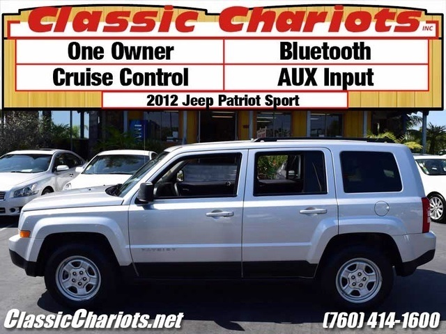 used suv near me 2012 jeep patriot sport with bluetooth cruise control and aux input for. Black Bedroom Furniture Sets. Home Design Ideas