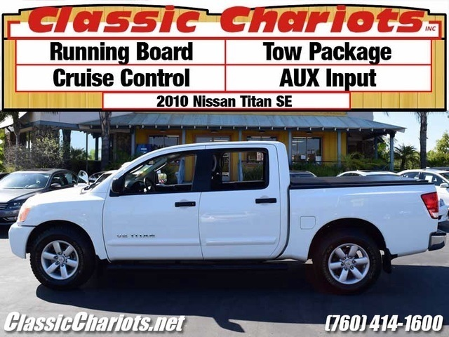 sold used truck near me 2010 nissan titan se with running board tow package and aux input. Black Bedroom Furniture Sets. Home Design Ideas