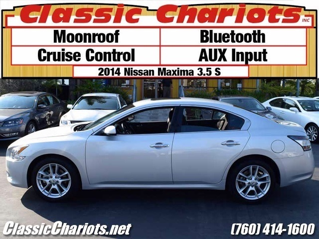sold used cars near me 2014 nissan maxima 3 5 s with moonroof bluetooth and cruise. Black Bedroom Furniture Sets. Home Design Ideas