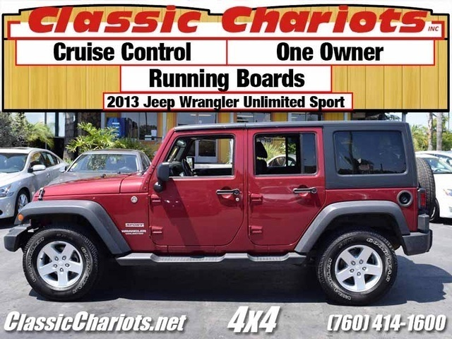 used 4x4 near me 2013 jeep wrangler unlimited sport with one owner cruise control and. Black Bedroom Furniture Sets. Home Design Ideas