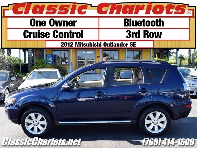 sold used suv near me 2012 mitsubishi outlander se with one owner bluetooth and 3rd row. Black Bedroom Furniture Sets. Home Design Ideas