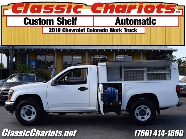 sold used commercial vehicle near me 2010 chevrolet colorado work truck with custom shelf. Black Bedroom Furniture Sets. Home Design Ideas