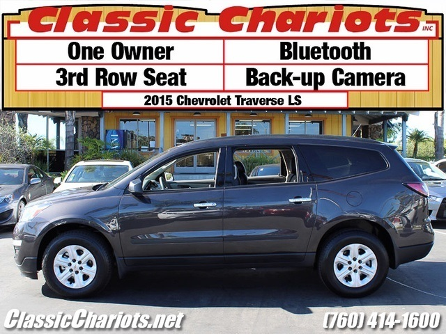 sold used suv near me 2015 chevrolet traverse ls with bluetooth backup camera and 3rd row. Black Bedroom Furniture Sets. Home Design Ideas