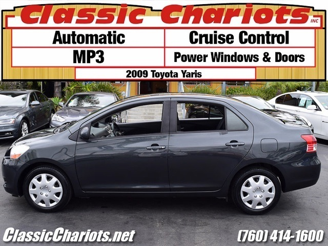 sold used car near me 2009 toyota yaris with cruise control mp3 for sale in escondido. Black Bedroom Furniture Sets. Home Design Ideas