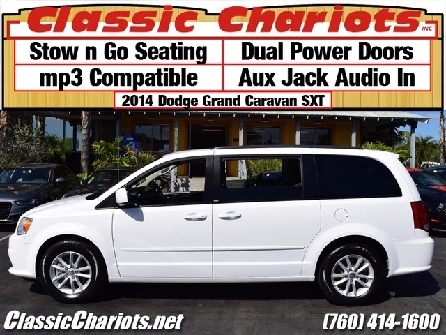 sold used van near me 2014 dodge grand caravan sxt with stow n go seating for sale in san. Black Bedroom Furniture Sets. Home Design Ideas