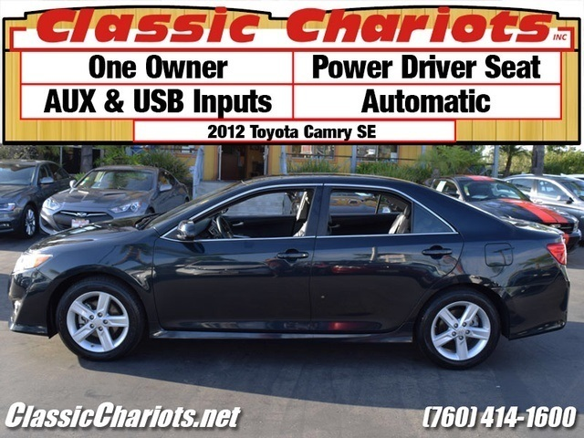 sold used car near me 2012 toyota camry se with one owner power driver seat aux usb. Black Bedroom Furniture Sets. Home Design Ideas