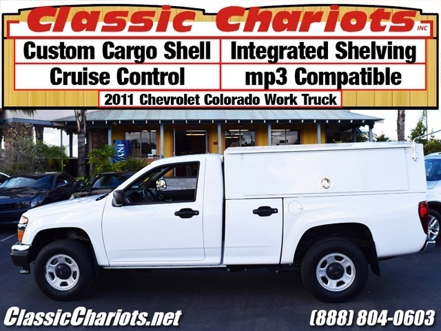 sold used commercial vehicle near me 2011 chevrolet colorado work truck with custom cargo. Black Bedroom Furniture Sets. Home Design Ideas