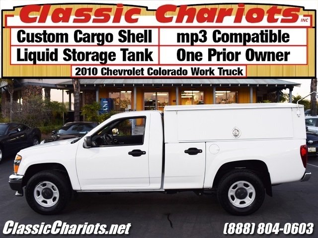 sold used cargo truck near me 2010 chevrolet colorado regular cab with custom cargo shell. Black Bedroom Furniture Sets. Home Design Ideas