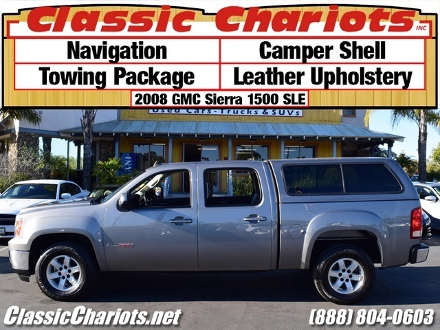 used truck near me 2008 gmc sierra 1500 slt with navigation towing package camper shell and. Black Bedroom Furniture Sets. Home Design Ideas