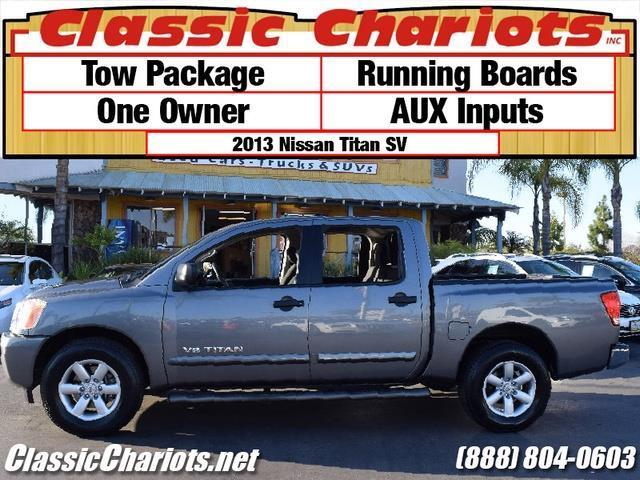 sold used truck near me 2013 nissan titan sv with tow package running boards and one. Black Bedroom Furniture Sets. Home Design Ideas