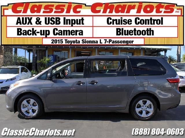 sold used family vehicle for sale near me 2015 toyota sienna l 7 passenger with back up. Black Bedroom Furniture Sets. Home Design Ideas