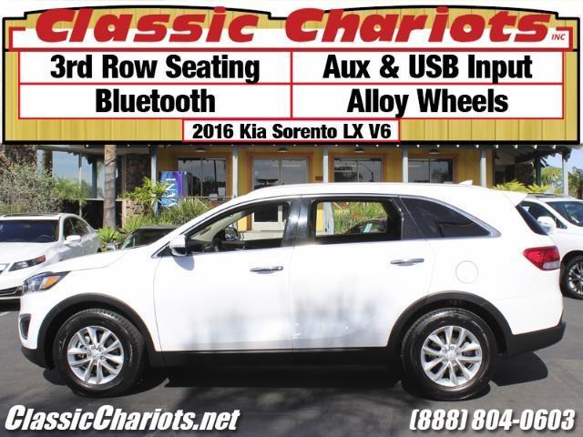 sold used suv near me 2016 kia sorento lx v6 with 3rd row seating bluetooth aux usb. Black Bedroom Furniture Sets. Home Design Ideas