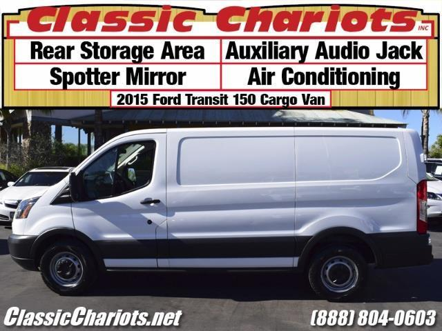 used commercial van near me 2015 ford transit 150 cargo van with rear storage aux input and. Black Bedroom Furniture Sets. Home Design Ideas