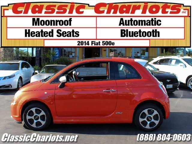 sold**used car near me - 2014 fiat 500e with moonroof, heated seats