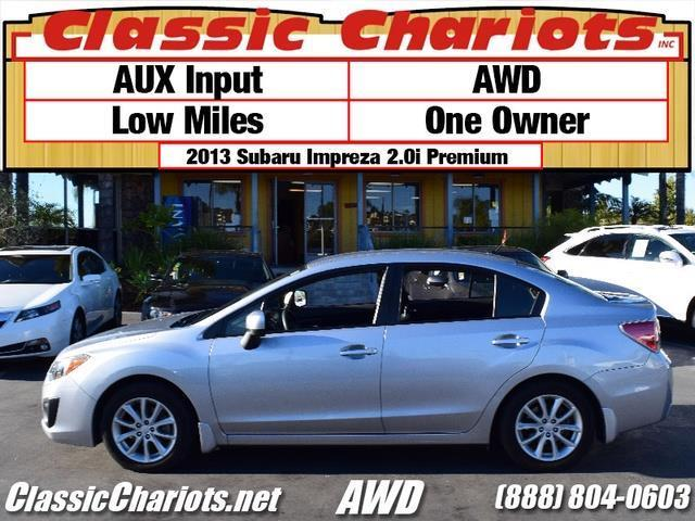 sold used car near me 2013 subaru impreza premium with awd one owner awd for sale in. Black Bedroom Furniture Sets. Home Design Ideas