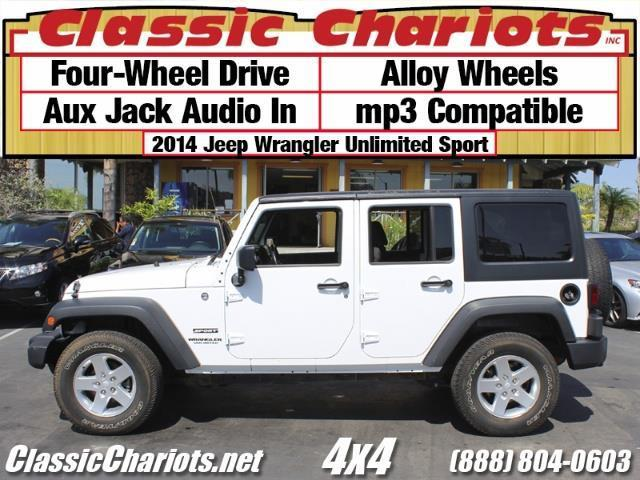 sold used car jeep near me 2014 jeep wrangler unlimited sport with 4wd alloy wheels and. Black Bedroom Furniture Sets. Home Design Ideas