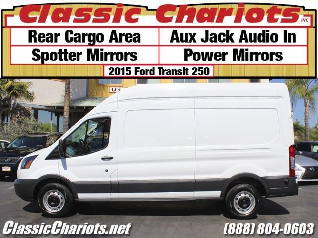used commercial vehicle near me 2015 ford transit 250 cargo van with spotter mirrors aux. Black Bedroom Furniture Sets. Home Design Ideas