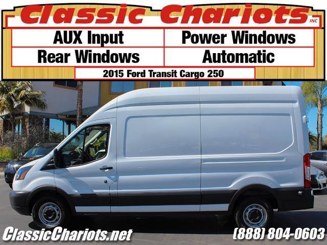 sold used commercial vehicle near me 2015 ford transit 250 cargo van with aux power. Black Bedroom Furniture Sets. Home Design Ideas