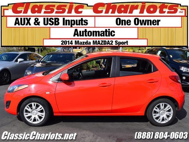 sold used cars for sale in san diego 2014 mazda mazda2 sport with aux usb inputs for sale. Black Bedroom Furniture Sets. Home Design Ideas