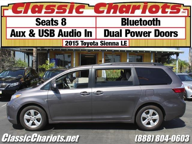 used family vehicle near me 2015 toyota sienna le 8 passenger with 8 seater bluetooth and. Black Bedroom Furniture Sets. Home Design Ideas